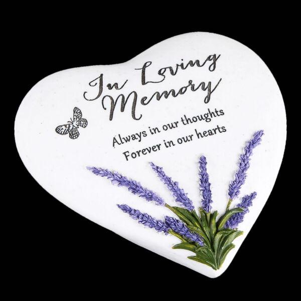 """pensieri Di Te"" Lavanda Pietra Cuore Memoriale Placca-in Memoria Amorevole"