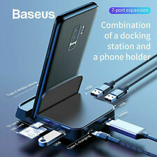 Baseus 7in1 USB Type-C HUB HDMI USB SD/TF Docking Station PC Phone Power Adapter