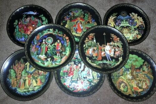 TIANEX PLATES RUSSIAN LEGENDS AND FAIRYTALES PLATES SET OF EIGHT