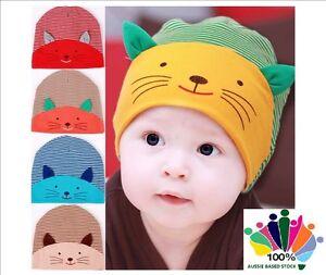All-Season-Winter-Warm-High-Quality-Cotton-Baby-Beanie-Skull-Cap-Cute-Cat-Face