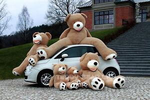 Teddybaer-gross-260-cm-100cm-GEFULLT-XXL-Riesen-Stofftier-Plueschtier-Geschenk