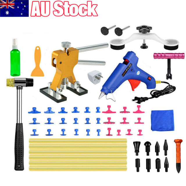 57PCS PDR Paintless Dent Puller Lifter Hail Removal Tools Car Body Kit Glue Gun