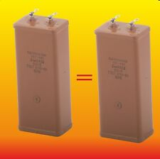 2 uF 600 V MATCHED RUSSIAN PAPER IN OIL PIO AUDIO CAPACITORS KBG-MN КБГ-МН