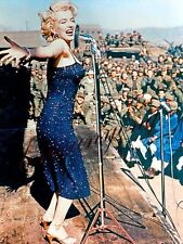 Marilyn Monroe in Korea during Korean War GLOSSY PHOTO IMAGE  M27