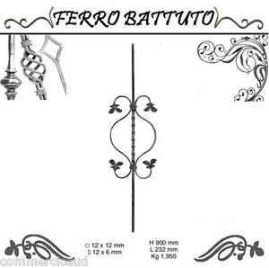 Other Tools & Workshop Equipment Tools & Workshop Equipment Modest Pannelli Paletti Fogliati Ferro Battuto X Scala Ringhiere Cancello H 90cm L 23cm Relieving Heat And Thirst.