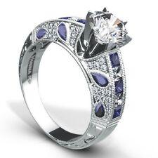 Very Unique Vanna K Semi Mount with Diamonds & Blue Sapphires in 18K White Gold.