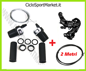 SHIFTER SHIMANO+CONTROL 21 Speeds + GRIPS+threads and SHEATHS MTB City ​​Bike