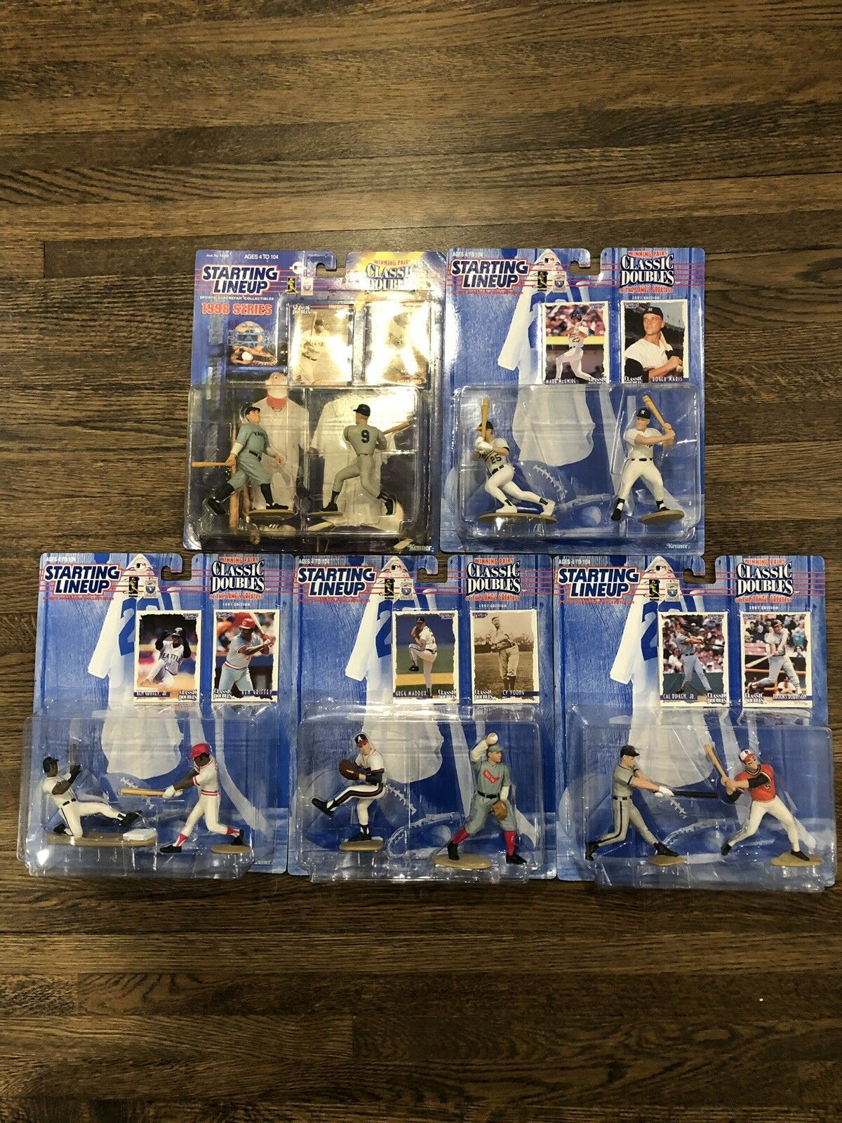 SLU LOT.  RUTH. MARIS GRIFFEY RIPKEN MADDUX ETC MLB 5 Pcs Mint
