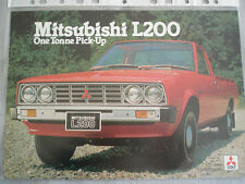 Mitsubishi L200 One tonne Pickup brochure 1980