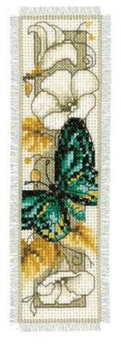 """Vervaco Lesezeichenpackung /"""" Schmetterling auf Blumen V /"""" PN-0145351"""