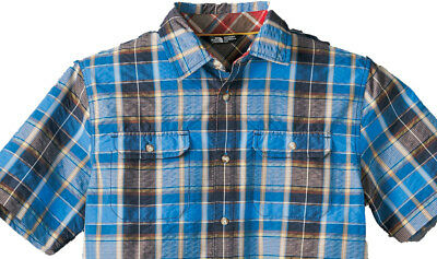 Men's The North Face Delcosta Short-Sleeves Shirt QuickDry Clear Lake Blue LG
