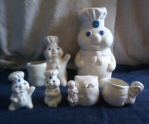 Pillsbury-Doughboy-Kitchen-Collection-Cookie-Jar-Salt-amp-Pepper-Creamer-amp-Sugar