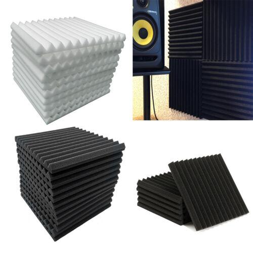 12//24er Set Wandpaneel Akustikschaumpads Studio Akustikplatte Schaumstoff Platte