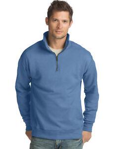 Hanes-Men-s-Pullover-Nano-Premium-Lightweight-Quarter-Zip-Jacket-Sweatshirt-NWT