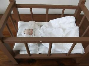 Vintage Handmade Baby Doll Bed Crib With Handmade Baby Doll Ebay