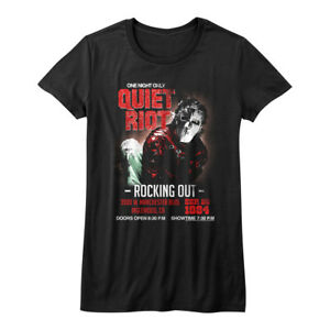 Quiet Riot Metal Health Rocking Out Tour Women/'s T Shirt Inglewood Concert Merch