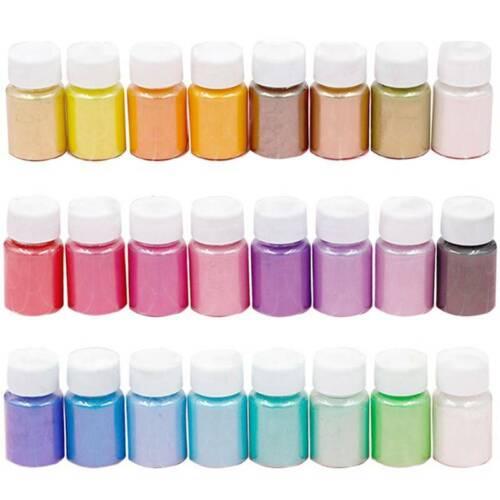 32 Farbe Perlenpuder Pigment Pulver Seife Kosmetik Harz Farbstoff Make up Nail