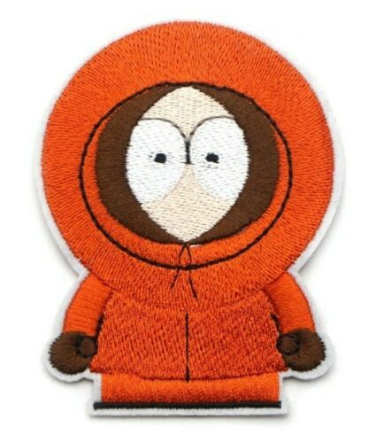 "Kenny Patch 2.7/"" X 3.5/"" South Park Adult Swim Embroidered Iron On Applique"