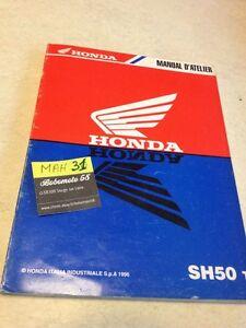 honda sh50 t sh 50 scooter revisione tecnica motorrad manuale d rh ebay it Control De Calidad Manual Book