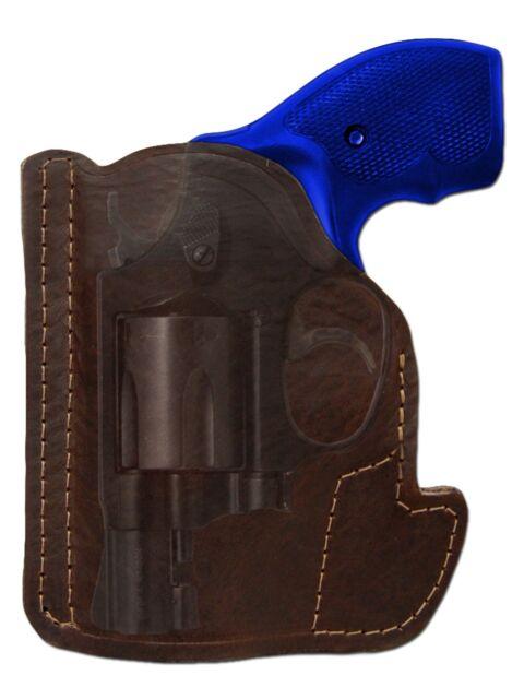 New Barsony Brown Leather Gun Pocket Holster S&W 2