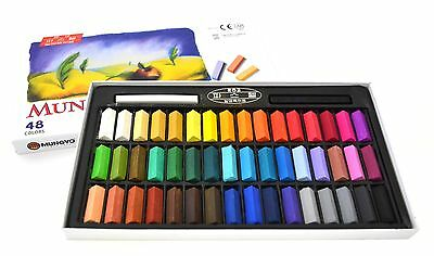 Mungyo Soft Drawing Art Pastels 24,32,48,64 Colors Color Set Square Chalk