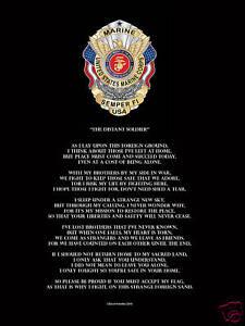 U-S-Military-Soldier-Marine-USMC-Semper-Fi-Poem-Poster-Print-Novelty-GIFT