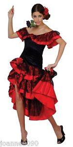 Espagnol Senorita Rumba Salsa Flamenco Danseur Danse Deguisement