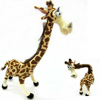 "14"" Madagascar Melman Cute Doll Lovely Long Neck Giraffe Stuffed Plush Toy Kids"