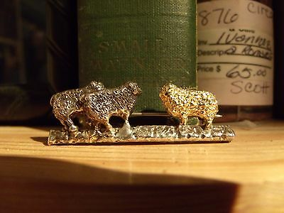 Golden Fleece, Sheep Silver Gold Brooch Pin, Unique Artisan Handcrafted