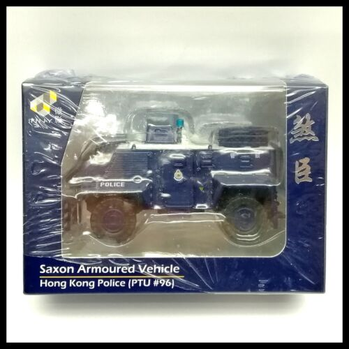 TINY HONG KONG City Police Car Saxon Armoured Vehicle PTU #96 LIMITED