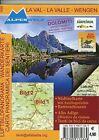 La Val - La Valle - Wengen 1 : 200 000 Luftbildpanorama & Wanderkarte (2011, Mappe)