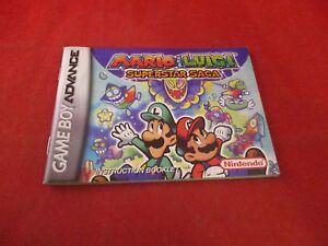 Mario Luigi Superstar Saga Game Boy Advance Gba Instruction