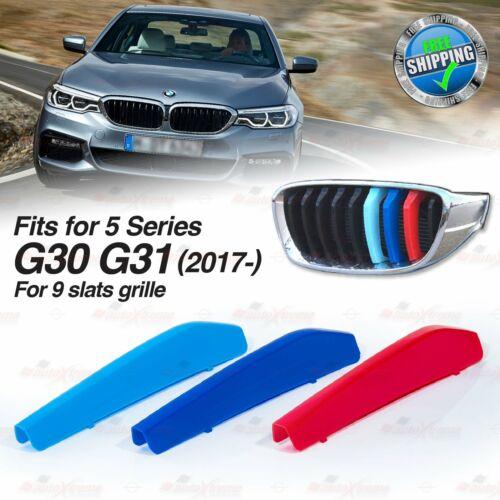 MPower 3 Farbe 9 Lamellen Niere Kühlergrill ABDECKUNG für BMW 5 Serie G30 2017