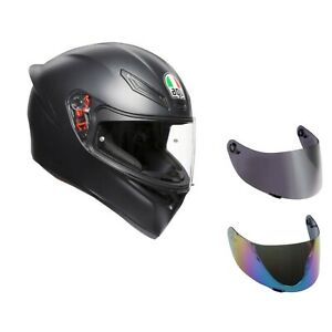 casco-moto-agv-k1-nero-opaco-visiera-specchio-visiera-fume-039-trasparente