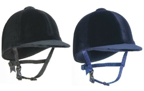 "Champion CPX3000 JUNIOR RIDING HAT Velvet PAS015 Kids Black Navy 6 14""7 34"""