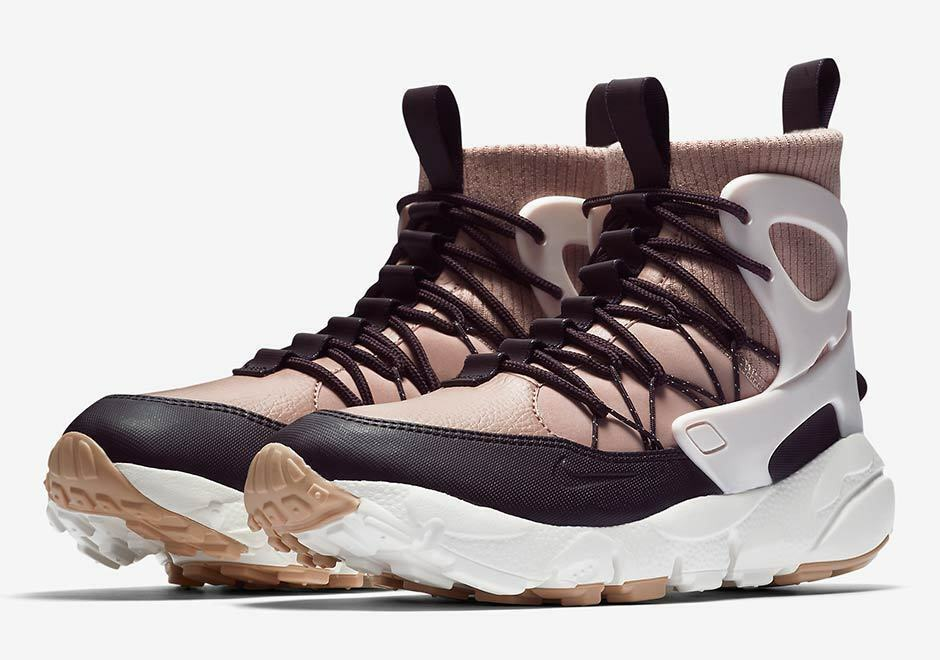 AA0519-600 Nike Women's Air Footscape Mid, Particle Pink/Silt Red Boots PARTICLE PINK/SILT RED