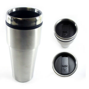 Image Is Loading 16oz Cup Insulated Coffee Travel Mug Stainless Steel