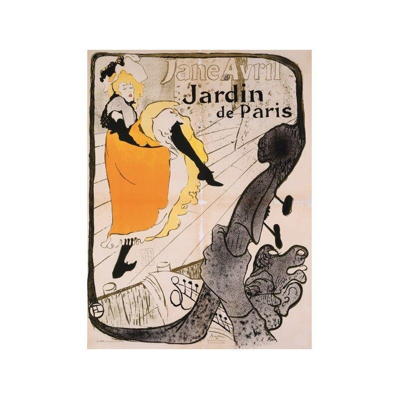 Quadro su Pannello in Holz MDF Henri Toulouse-Lautrec Jane Avril Poster