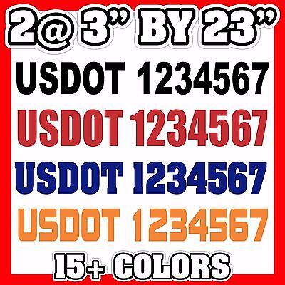 """3/"""" US DOT USDOT VIN NUMBER ICC MC EW GW vinyl Decal Sticker ID truck semi 3 INCH"""