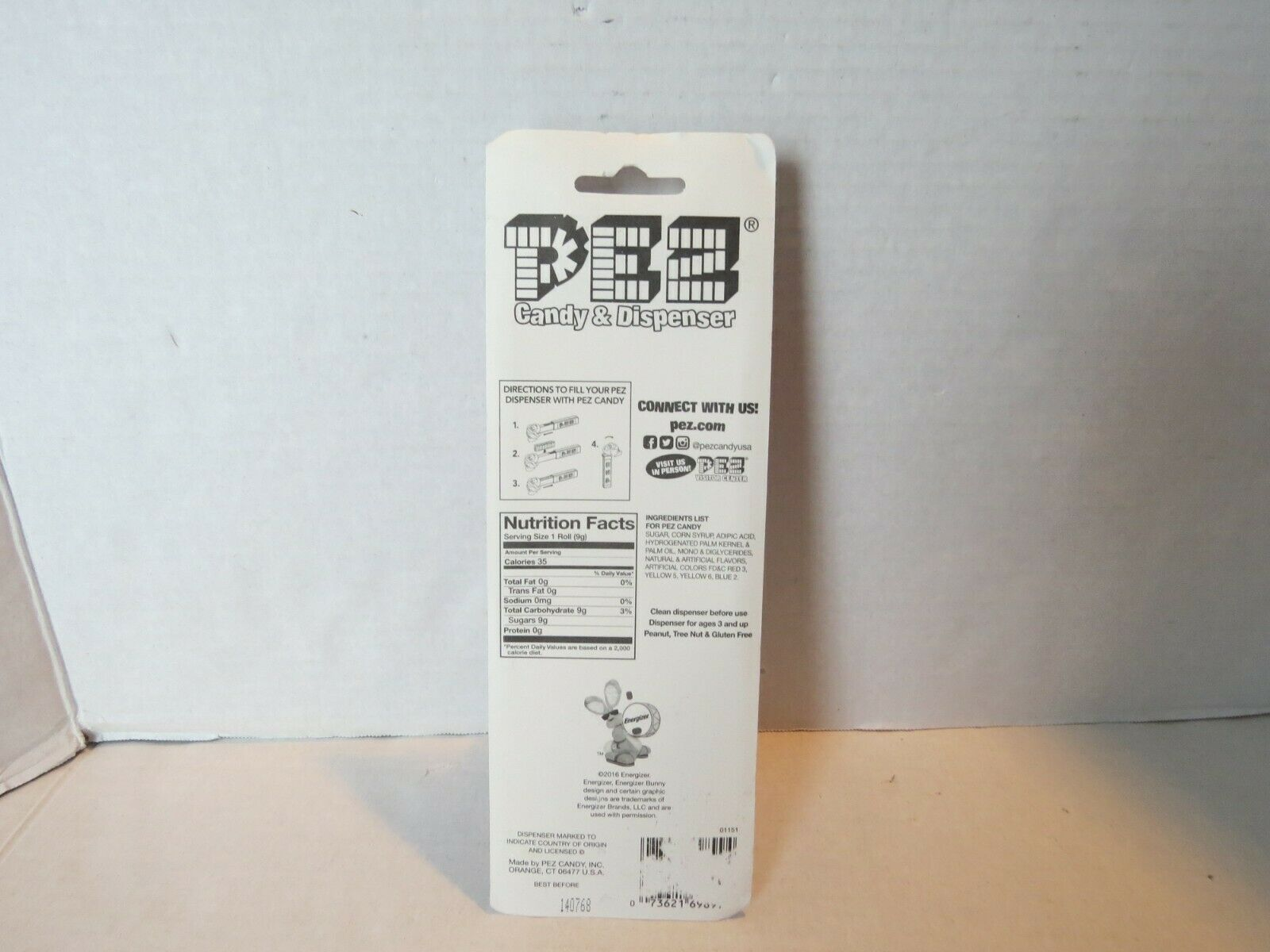 ☆NEW COLLECTIBLE ENERGIZER BUNNY PEZ candy Dispenser Limited Kroger Store Promo☆