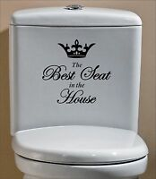 The Best Seat in The House Funny Humor Sticker Decal Vinyl Toilet Bathroom Crown