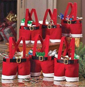 Xmas-Weihnachten-Hosen-Beuter-Geschenk-Taschen-Santa-Sack-Weihnachtsgeschenk