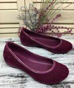 e593d7399c 🔴 Crocs Wine Velvet Ballet Flats Slip On Women's Shoes Size 6 🔴 | eBay