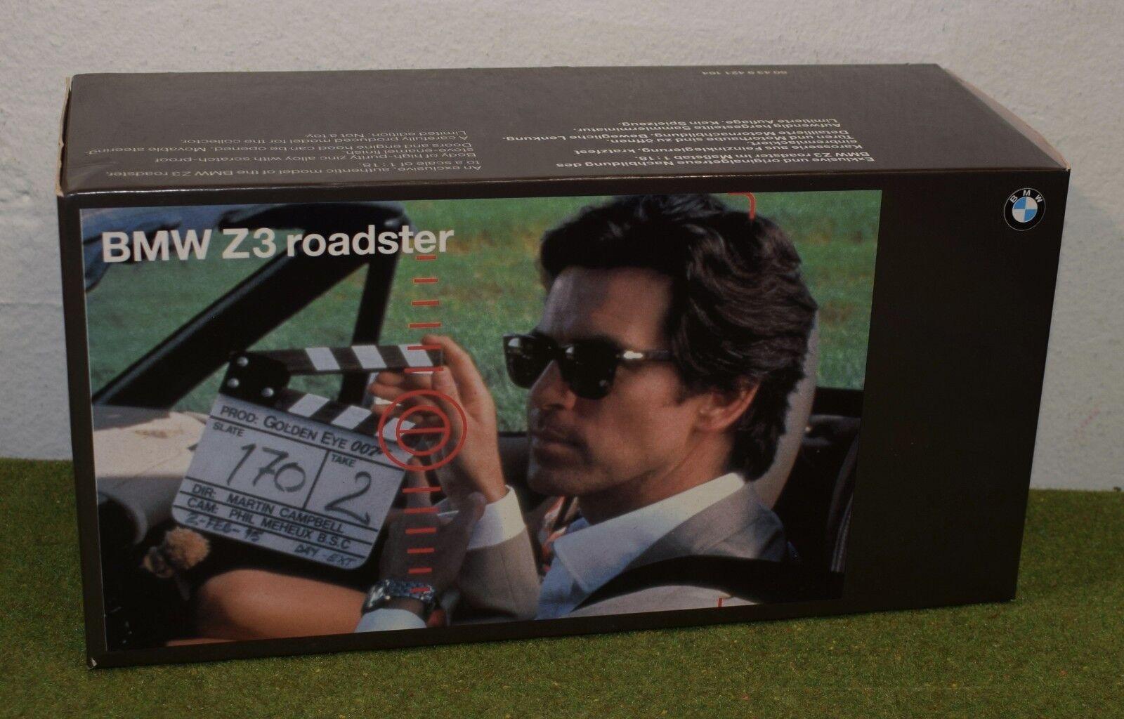 JAMES BOND 007 1 18 SCALE GoldENEYE  BMW Z3 ROADSTER