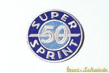 """VESPA Aufnäher """"Super Sprint 50"""" - SS50 SS V50 PX GT GL GS Rally Piaggio Patch"""