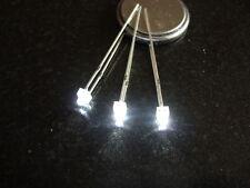 LED's WHITE 1.8mm  x 10 inc. Resistors FREE UK POSTAGE