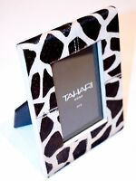 Tahari Home Collection Picture Photo Frame Girafe Print Faux Fur Back Leather