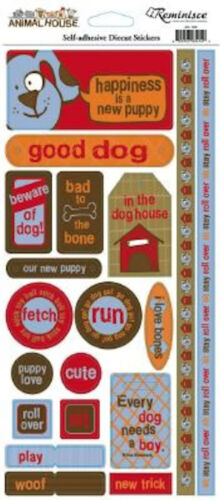 Reminisce DOG PHRASES Cardstock Stickers scrapbooking PLAY BONE TRICK