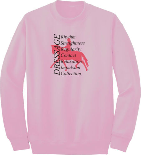 Dressage Fundamentals Horse and Rider Sweatshirt Multiple Colors /& Sizes