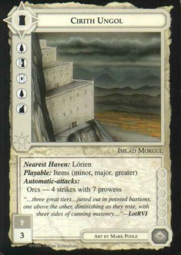 The Wizards Middle Earth CCG ICE Cirith Ungol Mint//Near Mint MECCG